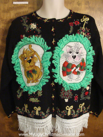Xmas Decorations Cheesy Cat Christmas Sweater