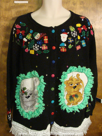 Christmas Holiday Cheesy Cat Christmas Sweater