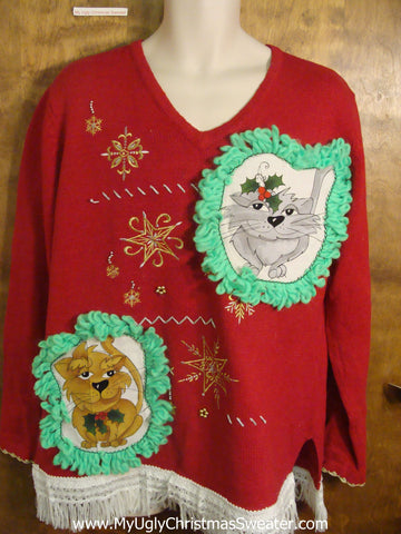 Christmas Stars Cat Christmas Sweater