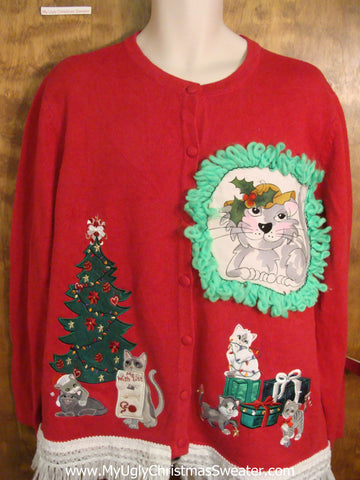 Kitten Party Cat Christmas Sweater