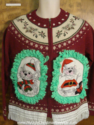 Traditional Design Cat Christmas Sweater
