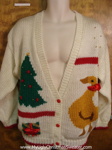 80s Christmas Duck Cheesy Christmas Sweater