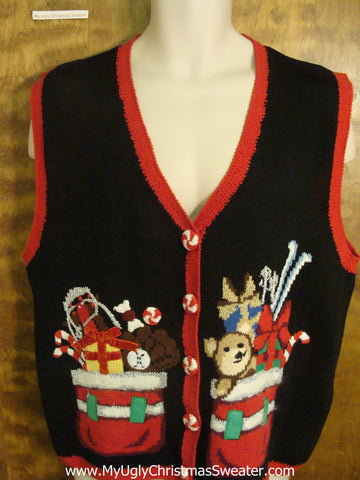 SANTA'S WORKSHOP 2sided Christmas Sweater Vest