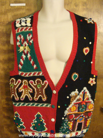 Yummy Sweets Cheesy Christmas Sweater Vest