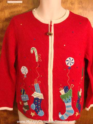 Christmas Sweets Balloons Cheesy Christmas Sweater