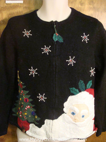 Large Santa Cheesy Christmas Sweater