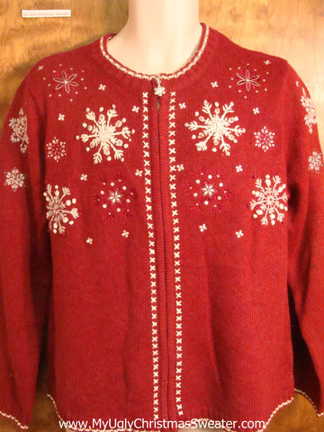 Unique Snowflakes Cheesy Christmas Sweater