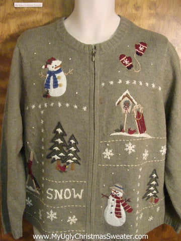 SNOW Cheesy Christmas Sweater