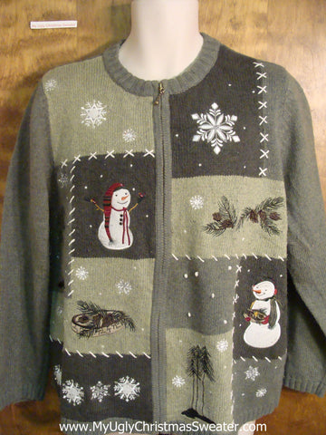 Outdoorsy Cheesy Christmas Sweater