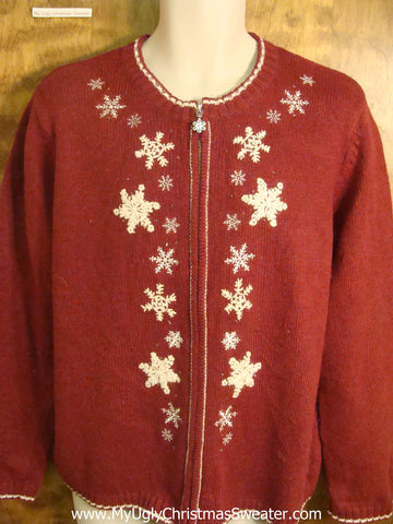 Sprinkled Snowflakes Cheesy Christmas Sweater