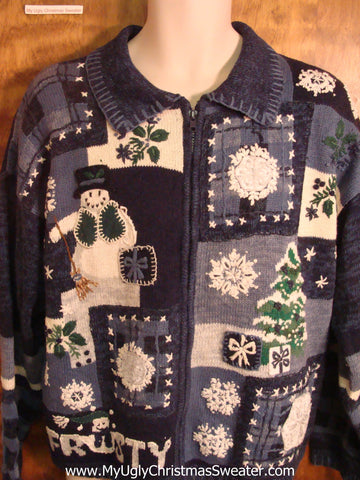 FROSTY Cheesy Christmas Sweater