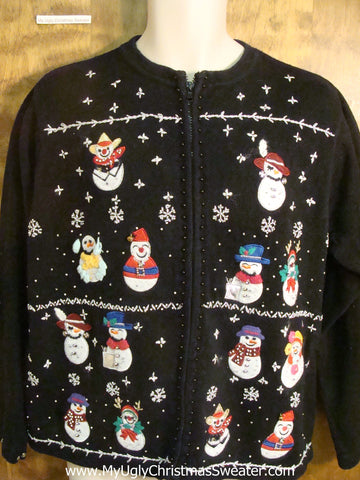 Tons of Snowmen Cheesy Christmas Sweater