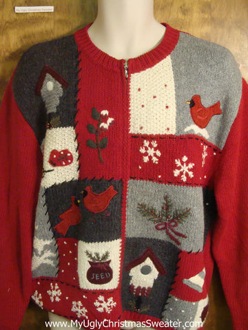Christmas Birds Cheesy Christmas Sweater