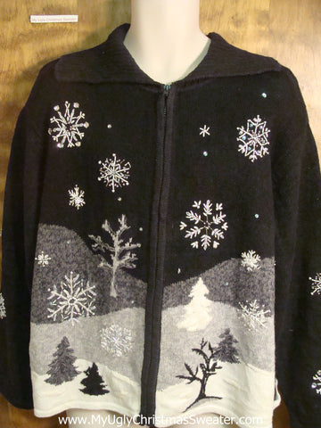 Winter Landscape Cheesy Christmas Sweater
