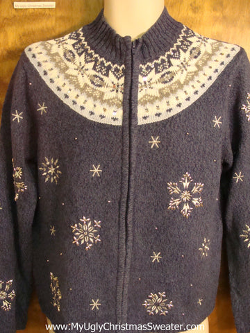 Nordic Collar Cheesy Christmas Sweater