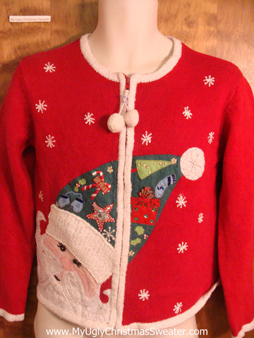Child Jolly Santa Cheesy Christmas Sweater