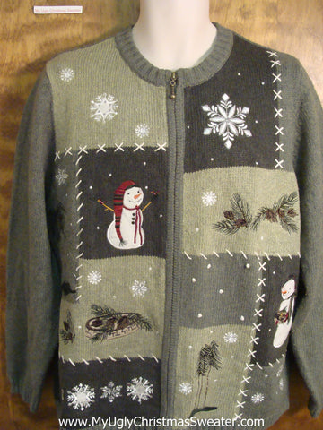Enjoying Great Outdoors Bad Christmas Sweater
