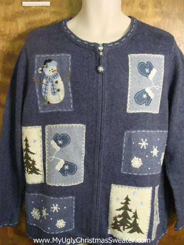 Winter Snowmen Bad Christmas Sweater