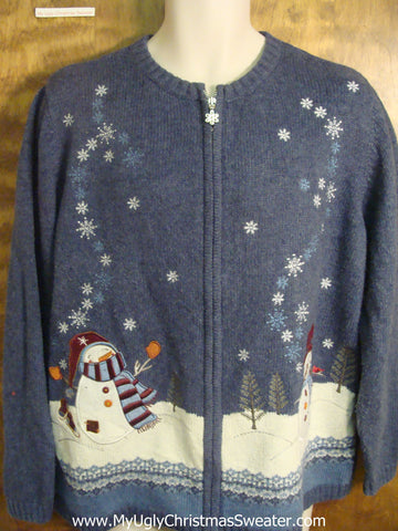 Falling Snow Bad Christmas Sweater