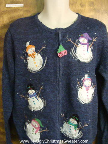 Happy Snowmen Bad Christmas Sweater