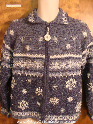 Cheesy Snow Cheap Bad Christmas Sweater