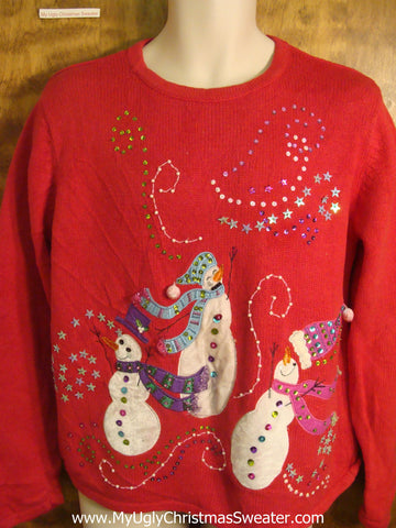 Swirling Snow Bad Christmas Sweater