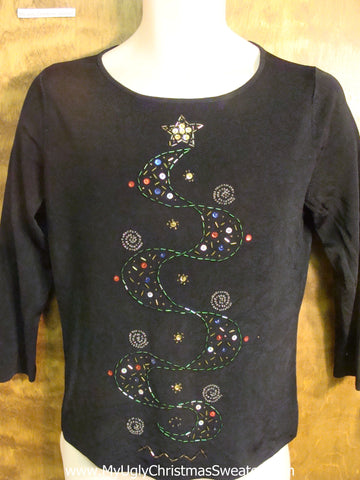 Bling Swirl Bad Christmas Sweater