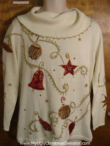 Glam Sequin Bling Cheap Bad Christmas Sweater