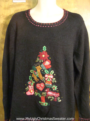 Holiday Decorations Tree Bad Christmas Sweater