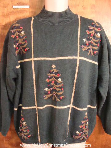 Tic-Tac-Toe Tree Bad Christmas Sweater