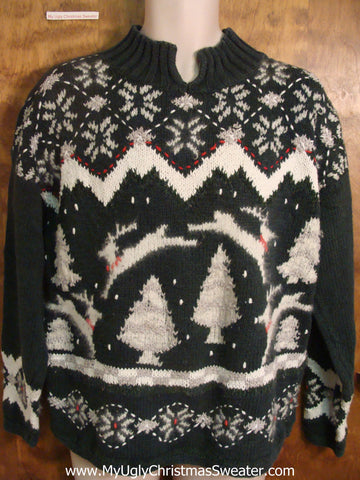 Nordic Jumping Reindeer Bad Christmas Sweater