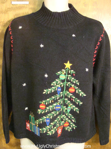 Decorated Tree Bad Christmas Sweater