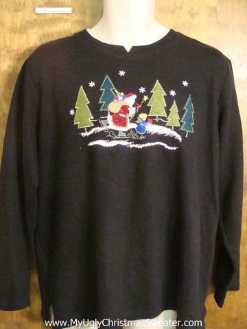 Santa Skating Bad Christmas Sweater