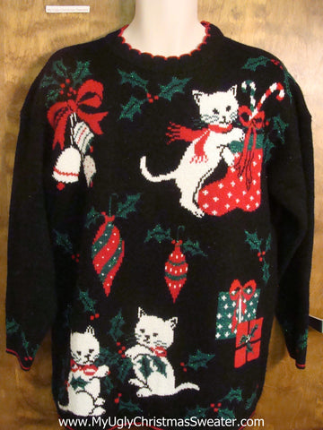 Kittens Playing Bad Christmas Sweater