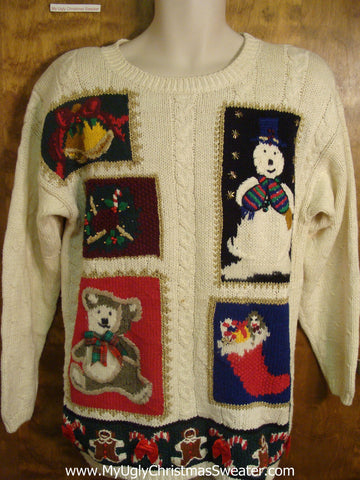 80s Holiday Characters Bad Christmas Sweater