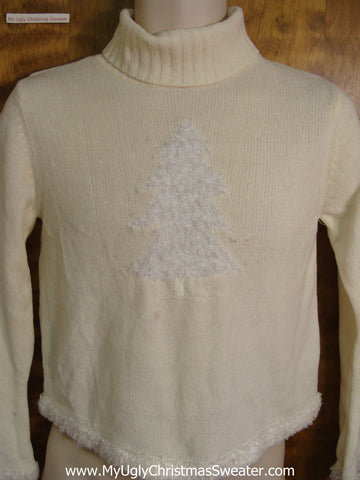 White Tree Cheap Bad Christmas Sweater