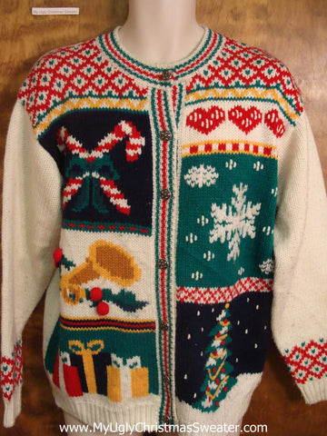 Cheesy Decorations Bad Christmas Sweater