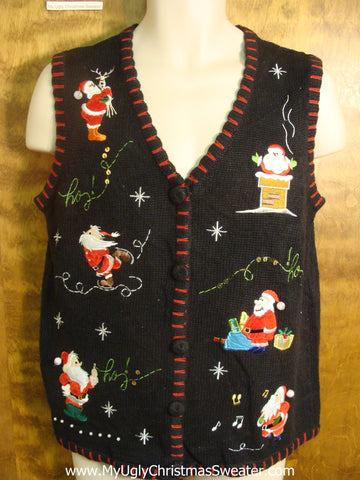 Tons of Santas Bad Christmas Sweater Vest