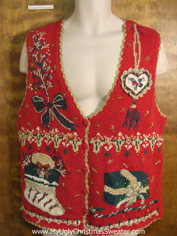 Ugly Decorations Funny Christmas Sweater Vest