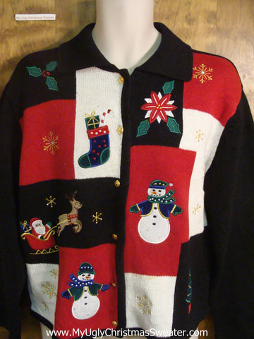 Santa and Christmas Helpers Funny Christmas Sweater