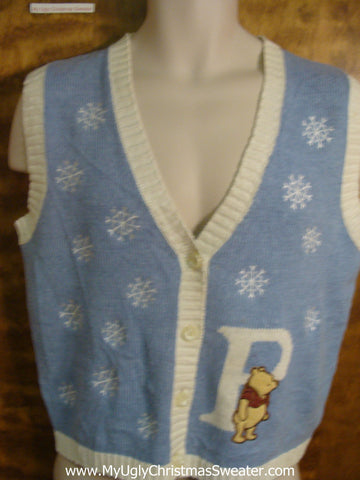 Winnie the Pooh Funny Christmas Sweater Vest