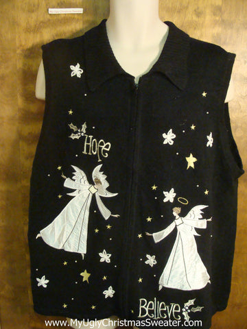 Angels Spreading Hope Funny Christmas Sweater Vest