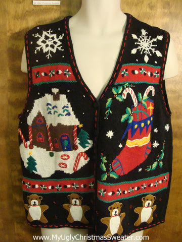 Christmas Sweets Funny Christmas Sweater Vest