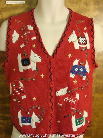 Holiday Westies Funny Christmas Sweater Vest