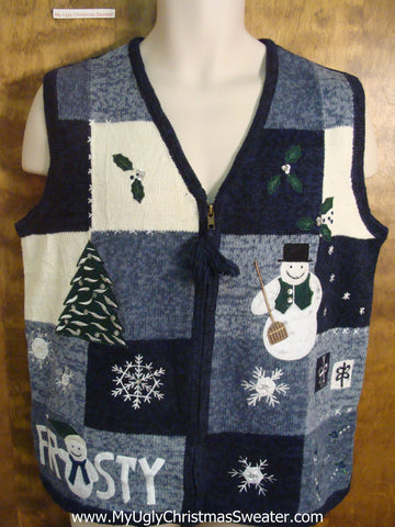 FROSTY The Snowman  Funny Christmas Sweater Vest