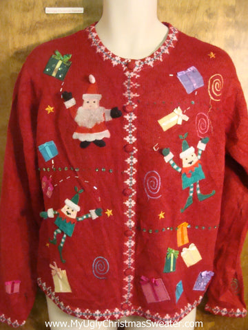 Santa and Elves Funny Christmas Sweater