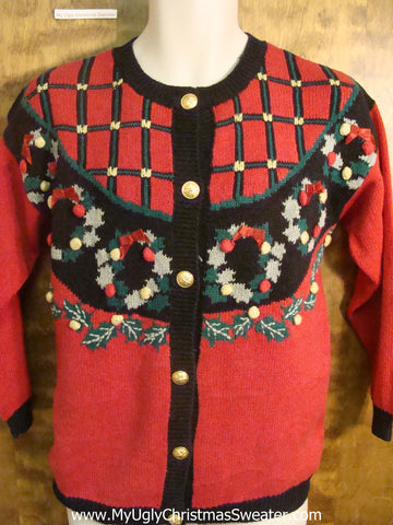 Decorated Wreaths Funny Christmas Sweater