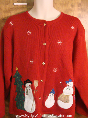 Christmas Snowman Family Funny Christmas Sweater