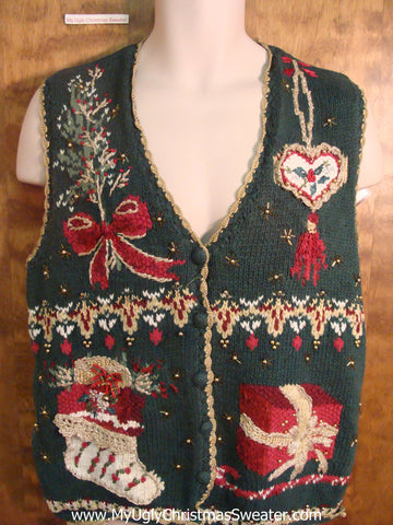 80s Decorations Funny Christmas Sweater Vest