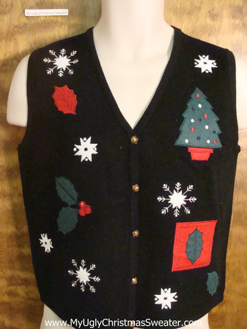 Christmas Greenery Funny Christmas Sweater Vest